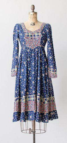 gypsy fields dress | vintage 1970s Gunne Sax dress