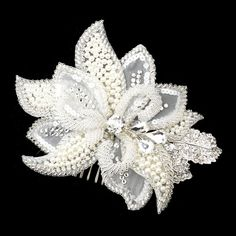 Beaded Bridal hair comb Lace Wedding by TheExquisiteBride on Etsy