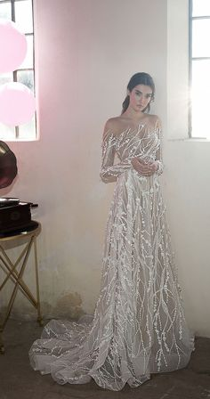 Modest Wedding Dresses Sweetheart A line silhouette wedding gown illusion high neckline long sleeves and long train : Lee Petra Grebenau Wedding Dresses 2018 Symphony In White 2018 bridal collection Wedding Dresses 2018, Gala Dresses, Bridal Dresses, Dress Wedding, White Wedding Gowns, Modest Wedding, Lace Wedding, Mermaid Dresses, Pretty Dresses