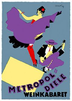 Adolf Uzarski, Metropol-Diele Weinkabinett, 1919