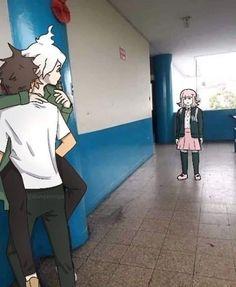 Danganronpa Funny, Super Danganronpa, Danganronpa Characters, Anime Characters, Haha Funny, Funny Memes, Nagito Komaeda, Cute Gay, Fujoshi