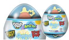 Bazooka Candy is celebrating Easter 2020 with the release of the new Spring Mix Variety Egg alongside a variety of fan-favorite Easter-themed offerings.  Bazooka's 2020 Easter Lineup Includes:  New Spring Mix Variety Egg: Each clear plastic egg includes a mix of kid-favorites: Candy-Ring Pop, Baby Bottle Pop, Juicy Drop Pop and Push Pop in an assortment of flavors including Strawberry, Blue Raspberry and Knock of Punch. Spring Mix Variety Eggs carry a suggested price of $3.00 Easter Candy, Easter Eggs, Baby Pop, Spring Mix, Easter 2020, Plastic Eggs, Raspberry, Strawberry, Baby Bottles
