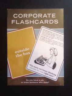 NEW Corporate Flashcards 2006 Outside The Box 60 Cards Jargon Fun Office Humor