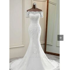 Lace Mermaid Wedding Dress, Wedding Dress Styles, Different Styles, Bridal Gowns, Off The Shoulder, Short Sleeves, Parties, Weddings, Fashion