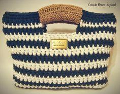 Aprendiz de Crocheteiras: CONFIRA: Passo a Passo Bolsa de Malha | Eurofios