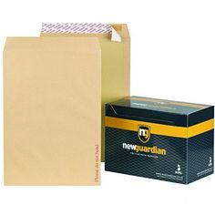 New Guardian Peel And Seal Board-Back Manilla Envelopes - Board Back Envelopes Envelopes, Seal, Office Supplies, Boards, Paper, Twin, Planks, Twins, Harbor Seal