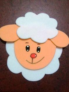 Aplique ovelha carinha Kids Crafts, Foam Crafts, Easter Crafts, Diy And Crafts, Farm Animal Crafts, Animal Crafts For Kids, Summer Camp Crafts, Camping Crafts, Craft Work For Kids