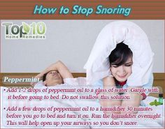 Top 10 Home Remedies For Snoring - My Honeys Place