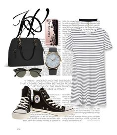 """Untitled #57"" by clodfever on Polyvore featuring MANGO, Converse, Avenue, Ray-Ban, Casetify and NLY Accessories"