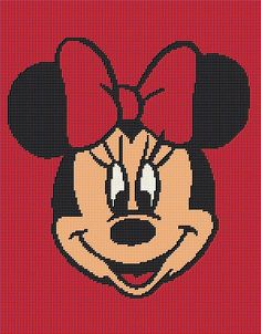 $5 - Minnie Mouse Disney - Crochet Afghan Blanket Pattern - Graphghan by AngelicCrochetDesign on Etsy