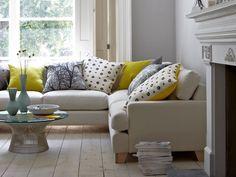 Leon modular sofa - sofa.com  I like this sofa  - the idea of a plain cover with startling cushions