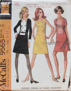 1968 Uncut Sewing Pattern McCalls 9565 Sheath by desertcottage, $10.00