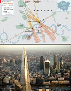 The Shard & The Gherkin | Daily chart: Sights from the heights | The Economist | London's evolving skyline in this interesting article. Have a look