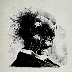 Grainy black and white collages by Treble Noir #bleaq #illustration #collage #contrast #black #white #dark