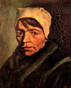 Head of a Peasant Woman with White Cap, 1885  Vincent van Gogh