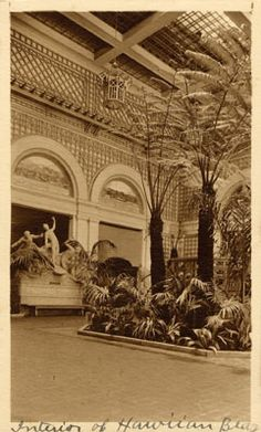 Interior of Hawaiian Islands Building from the 1915 Panama-Pacific International Exposition in San Francisco