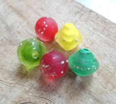 Handmade Etched Lampwork Beads Glass Bead by CandanLampworkBeads