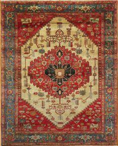 Serapi 10 x 13 Antique  Rug