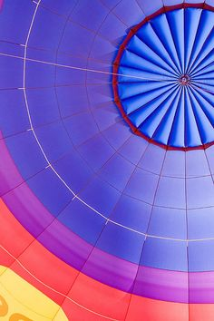 rainbow color hot air balloon