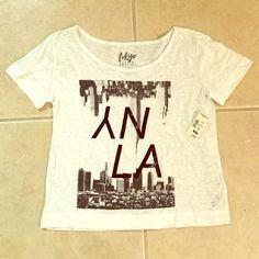 Tokyo Darling NY/LA tee shirt Tokyo Darling NY/LA tee shirt, never worn new with tags from Aeropostale. Aeropostale Tops Tees - Short Sleeve