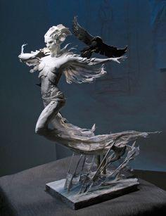 By Forest Rogers Potnia Theron, Statue Ange, Arte Fashion, 3d Fantasy, Art Sculpture, Toy Art, Dark Art, Oeuvre D'art, Amazing Art