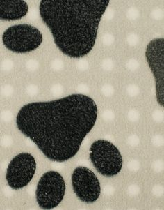 Supersoft Fleece Paws Spot Silver - Main - 104000