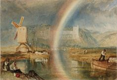 Joseph Mallord William Turner Arundel Castle on the River Arun, with a Rainbow c.1824–5