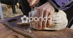 Cutting homemade bread - Stock Footage   by BucleFilms Stock Video, Stock Footage, Bread, Homemade, Food, Home Made, Brot, Essen, Baking