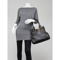 Chloe Black Leather Paddington Tote BagYOOGISCLOSET.COM