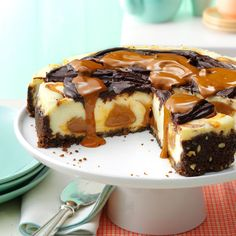 Dulce de Leche Cheesecake Recipe from Taste of Home  This decadent dessert is a perfect addition to any Cinco de Mayo celebration.