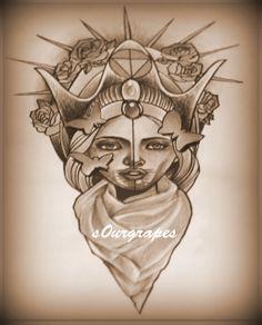 voodoo queen tattoo @s0ur Grapes