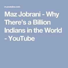 """""""Why There Are A Billion Indians in the World"""" Maz Jobrani, Youtube, Youtubers, Youtube Movies"""
