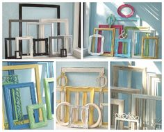 Gallery Wall Frames Set mixed metal gallery wall picture frames/ copper, silver,gold