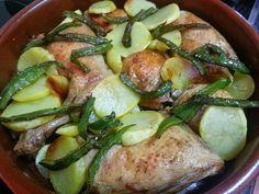 Cuartos traseros y contramuslos de pollo asados al limón - La cocina de Pedro y Yolanda