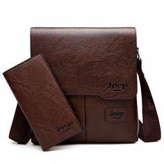 Men's Messenger Bag Set Soft Pu Leather Shoulder Bag For Businessmen Casual Crossbody Bag Crossbody Messenger Bag, Messenger Bag Men, Satchel, Backpack, Black Leather Shoes, Leather Men, Jeep, Mini Mochila, Buy Bags