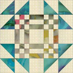 Nine-Patches and Triangles Get Together to Form Goose in the Pond Blocks: How to Make Goose in the Pond Quilt Blocks