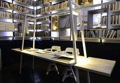 "Espacio ""La Biblioteca"" - Casa Foa  Productos Atrim: Listello Luxor Código:1483  Tapacanto Aluminio Código: 1903"
