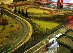 Check out these awesome slot track layouts from our customers. Slot Car Race Track, Slot Car Racing, Slot Car Tracks, Slot Cars, City Model, Golf Courses, Layout, Cool Stuff, Carrera