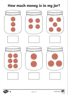 jar of coins math problem