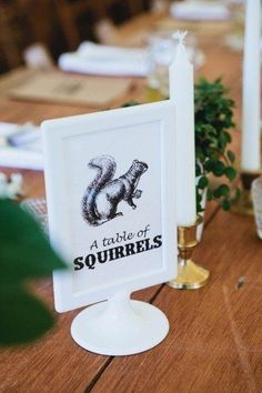 Use frames from Ikea to display seating signs at your wedding..
