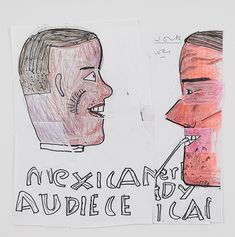 Rose Wylie Mexican Can, 2019 Pen, coloured pencil, marker and collage on paper x cm Rose Wylie, Royal College Of Art, National Museum, Art School, Colored Pencils, Marker, Painting & Drawing, Collage, Mexican