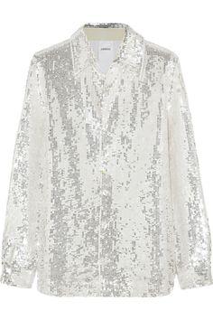 Ashish|Sequined cotton shirt|NET-A-PORTER.COM