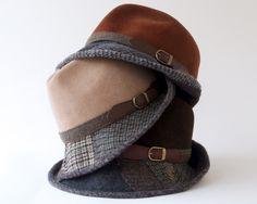Tweed Fedora Hat- Men- Women- Fall Fashion- Winter Accessories- Felt Hat- Patchwork- Wool Fedora Hat- Trilby Hat- Fashion Hat- Fall Hat by KatarinaHats on Etsy https://www.etsy.com/listing/250640796/tweed-fedora-hat-men-women-fall-fashion