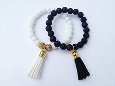 Milkshake Swirl beaded Tassel Bracelets