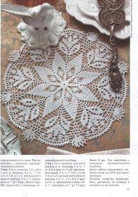 Home Decor Crochet Patterns Part 103 - Beautiful Crochet Patterns and Knitting Patterns Filet Crochet, Crochet Motifs, Crochet Chart, Thread Crochet, Easy Crochet, Crochet Round, Doily Patterns, Crochet Patterns, Crochet Dollies