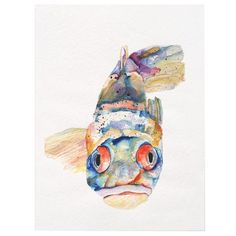 Watercolor Fish with attitude ;)