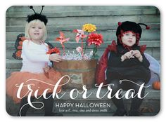 Scripted Trick 5x7 Stationery Card | Halloween Cards | Shutterfly