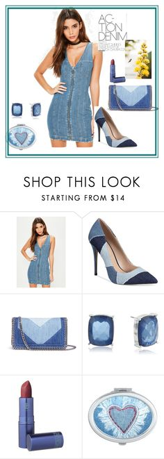"""""""Denim"""" by amel-367 on Polyvore featuring Missguided, ALDO, STELLA McCARTNEY, Napier and Lipstick Queen"""