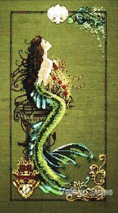 Mirabilia Nora Corbett Cross Stitch Chart ~  MERMAID OF ATLANTIS #95 Sale #Mirabilia