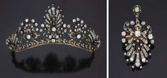 Unknown Diamond Tiara that, dismounted from the frame, forms brooches.